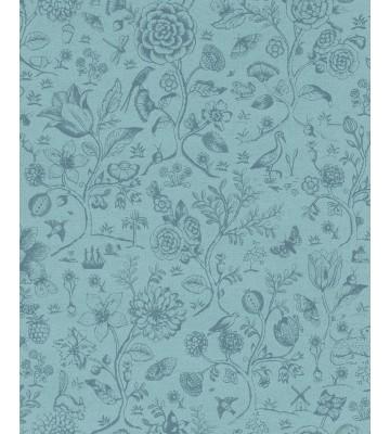 Eijffinger Tapete PIP 4 375012 - Spring to Life Two Tone (Blau)