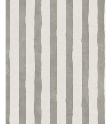 Eijffinger Tapete Stripes+ 377052 - Pinsel Streifen (Beigegrau)