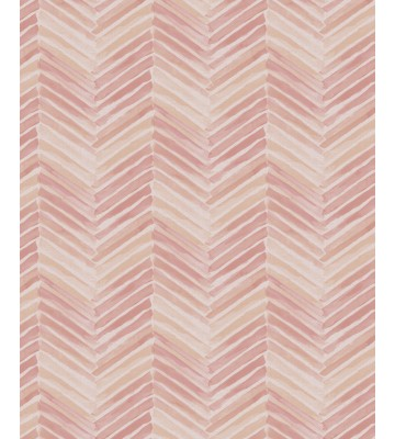 Eijffinger Tapete Stripes+ 377092 - Fischgrätmuster (Beige/Rosa)
