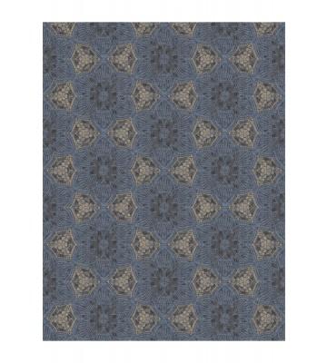 Eijffinger Tapeten Panel Siroc 376093 - Boho Flower (Blau/Gold)