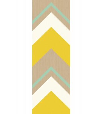 Eijffinger Tapeten Panel Stripes+ 377203 CRISSCROSS (Gelb)