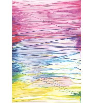 Eijffinger Tapeten Panel Stripes+ 377209 AQUALINES (Bunt/Pink)