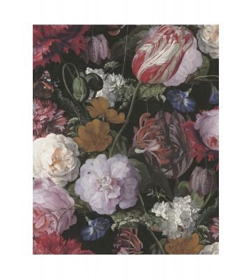 Eijffinger Vliestapete Masterpiece 358000 - Blumen Gemälde (Schwarz)
