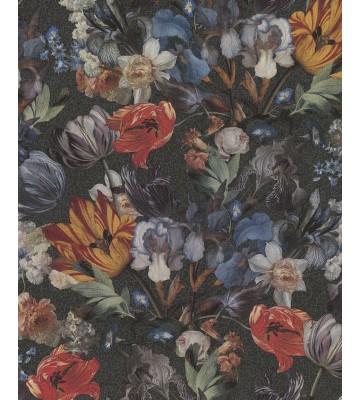 Eijffinger Vliestapete Masterpiece 358010 - Blumen Stillleben (Schwarz)