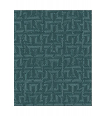 Eijffinger Vliestapete Siroc 376060 - Labyrinth Optik (Blaugrün)