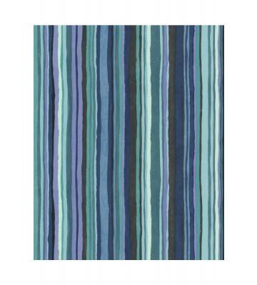 Eijffinger Vliestapete Stripes+ 377013 - dünne Pinselstriche (Bunt/Blau)
