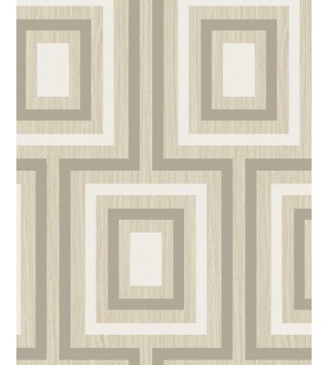 Eijffinger Vliestapete Stripes+ 377020 - geometrisches Muster (Beige)