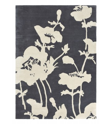 Florence Broadhurst Designerteppich Floral 300 - Grau