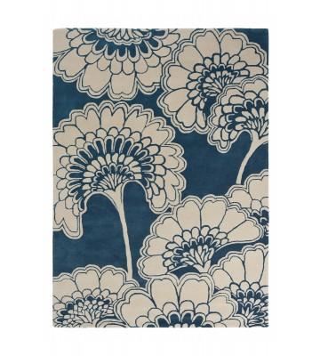 Florence Broadhurst Designerteppich Japanese Floral - Blau