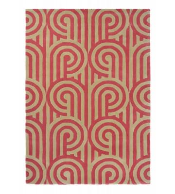 Florence Broadhurst Designerteppich Turnabouts - Himbeere