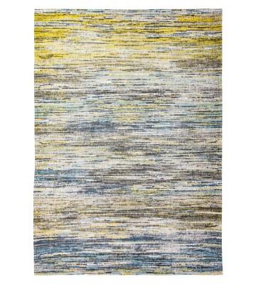Louis de poortere Baumwollteppich Sari - Blue Yellow Mix