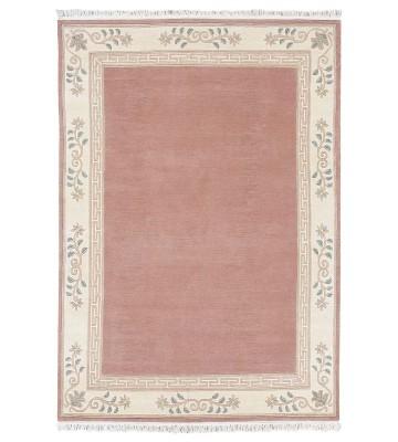 Original Nepal Bordürenteppich Classica - Altrose
