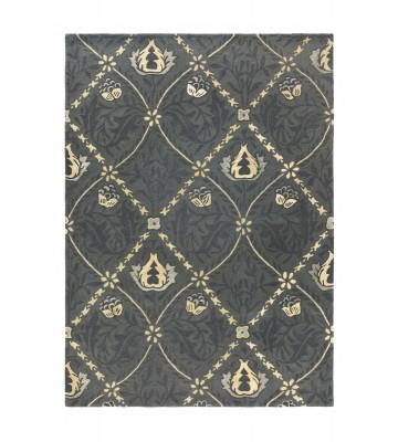 Morris & Co. Schurwollteppich Pure Trellis - Black ink