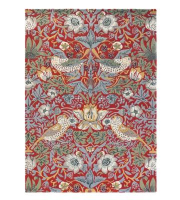 Morris & Co. Wollteppich Strawberry Thief - Crimson