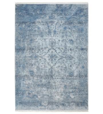 Fransenteppich im Used Look - Pure - Blau