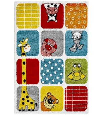 Kinderteppich - Funny Animals - Dots - Multi