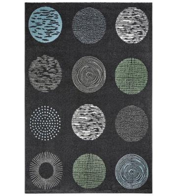 Moderner Teppich - Circles - Anthrazit
