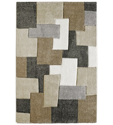 Moderner Teppich - Cube Mixes - Taupe