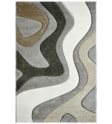 Moderner Teppich - Waves - Silber