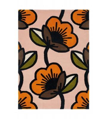 Orla Kiely Designerteppich Passion Flower Pink - Pink