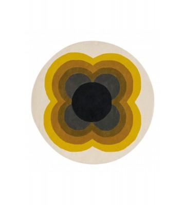 Orla Kiely Designerteppich Sunflower Pink - Yellow