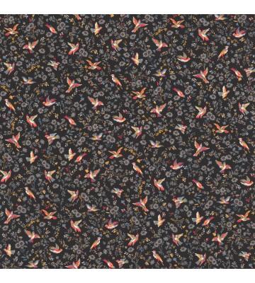 Rasch Textil Tapete 288666 Petite Fleur 4 - kleine Vögel (Schwarz)