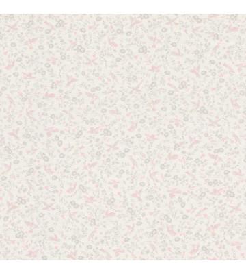 Rasch Textil Tapete 288826 Petite Fleur 4 - kleine Vögel (Weiß)