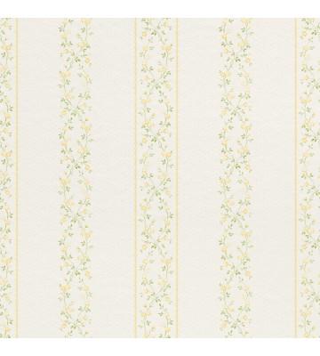 Rasch Textil Tapete 289168 Petite Fleur 4 Blumen Streifen Weiss