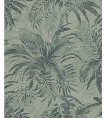 Rasch Textil Tapete Abaca 229119 - Blättermotiv (Hellgrün)