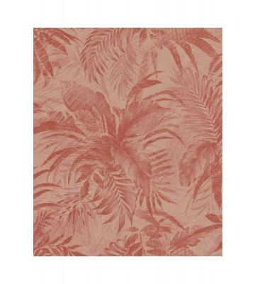 Rasch Textil Tapete Abaca 229171 - Blättermotiv (Rot)