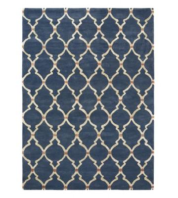 Sanderson Kurzflorteppich Empire Trellis 45508 - Indigo