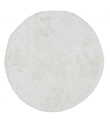 Schöner Wohnen Fell Teppich Tender - Rund (Weiß)