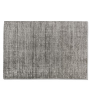 SCHÖNER WOHNEN Flachgewebeteppich - Alessa Streifen - Silber
