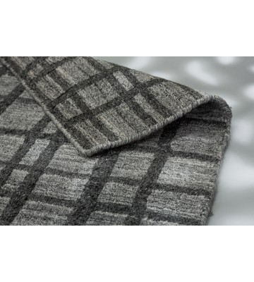 SCHÖNER WOHNEN Flachgewebeteppich - Cosetta Gitter - Grau