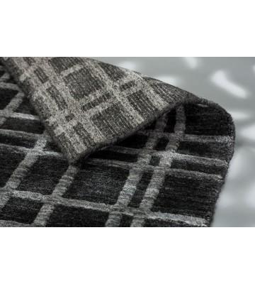 SCHÖNER WOHNEN Flachgewebeteppich - Cosetta Gitter - Silber