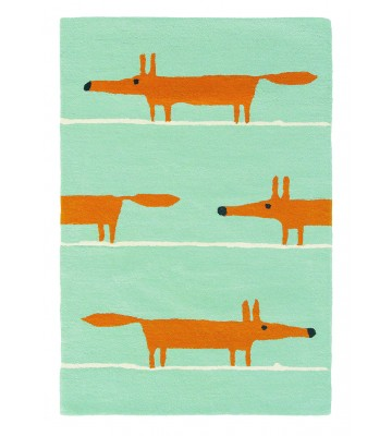 Teppich Mr Fox - Blau