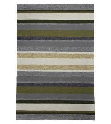 Gino Falcone Teppich Rosetta - Stripes - Grün