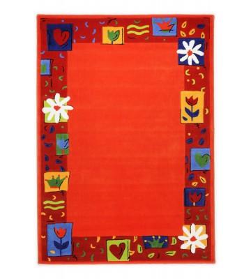 Kinderteppich Blumen Kindergarten MH-3657 - Orange