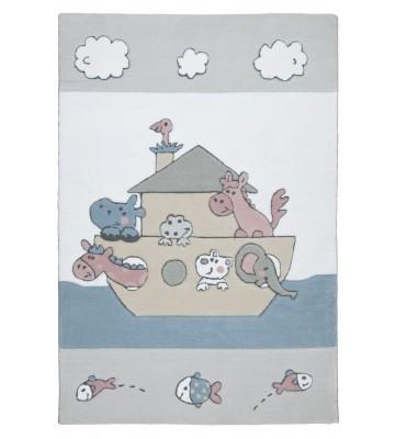 Kinderteppich Kindergarten MH-3265 - Weiß/Blau