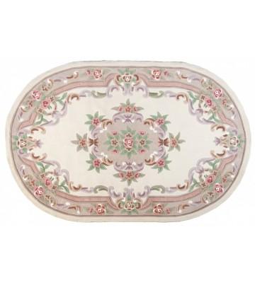 Ovaler Aubusson Design Teppich Ming 501 - Beige