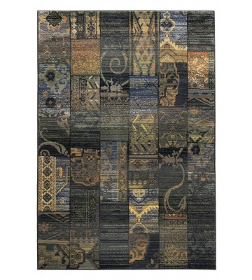 Patchwork Teppich Gabiro Des.5504 - Blau