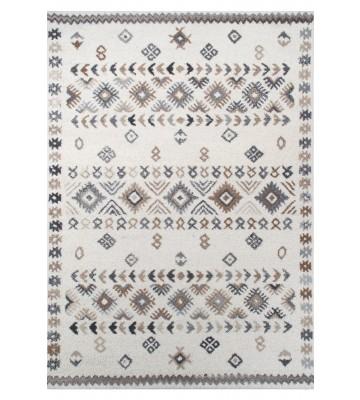 Royal Berber Teppich - Streifenmuster - Weiß/Beige