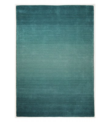 THEKO die markenteppiche Schurwollteppich Wool Star Ombre Türkis