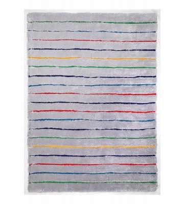 Teppich Soft - Hidden Stripes - Grau Multi