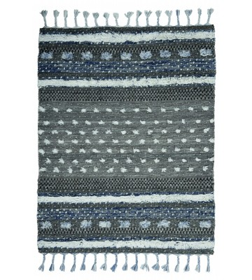 Tom Tailor Teppich Funky Nature - Grau/Blau