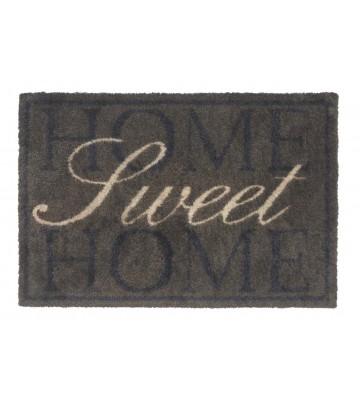 Baumwollmatte Home Sweet Home (Braun)