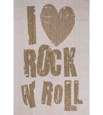 Flachgewebe Teppich Rock n Roll (Beige)