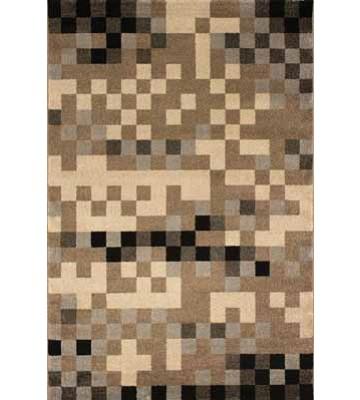 Kurzflor Teppich Pisa - Würfel - (Grau)