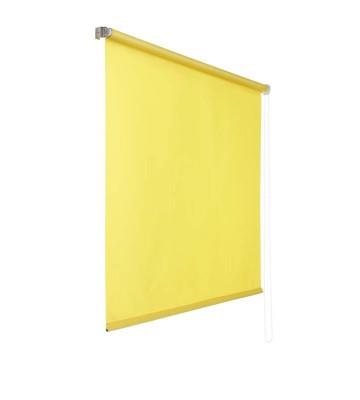 Lichtdurchlaessiges Seitenzugrollo - Gelb