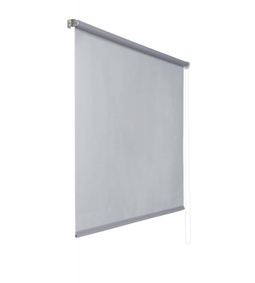Lichtdurchlaessiges Seitenzugrollo - Grau